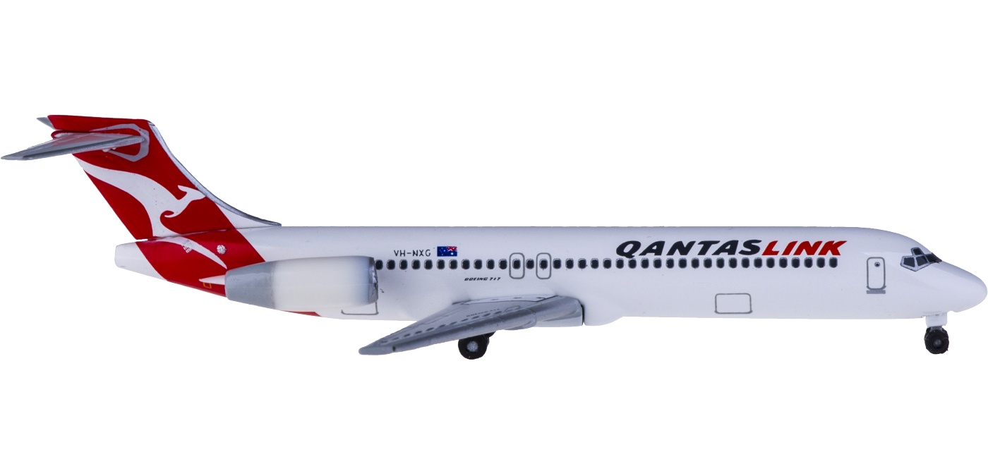 女生�yg��f�x�~y�NXG�型_herpa 1:500 528269 qantas 澳洲航空 boeing 717 vh-nxg