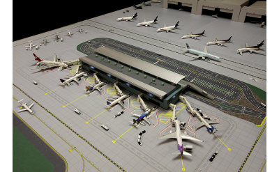 Geminijets 1:400 航站楼 可搭配GJAPS006图纸