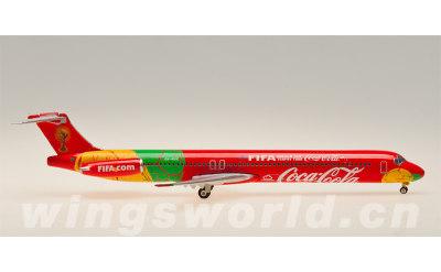 Phoenix 1:400 Danish Air Transport McDonnell Douglas MD-83 OY-RUE 世界杯彩绘