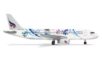 Herpa 1:400 曼谷航空 Airbus A320 HS-PPE 吉祥物彩绘