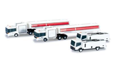 Herpa 1:500 机场附件: 加油车和污水收集车
