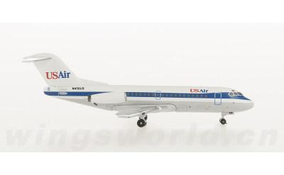 AeroClassics 1:400 USAir Fokker F-28 N456US