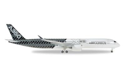 Herpa 1:500 Airbus A350-900 XWB F-WWCF 碳纤维彩绘