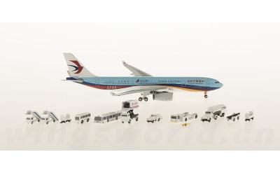 AeroClassics 1:400 中国东方航空 Airbus A330-200 B-5943 东方网号 & GSE