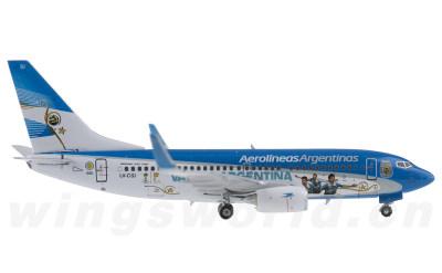 Phoenix 1:400 阿根廷航空 Boeing 737-700 LV-CSI 2014世界杯彩绘