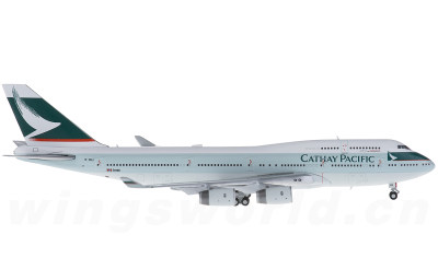 JC Wings 1:400 Cathay Pacific 国泰航空 Boeing 747-400 B-HUJ 最后飞行