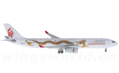 JC Wings 1:400 Dragonair 港龙航空 Airbus A330-300 B-HYF 25周年彩绘