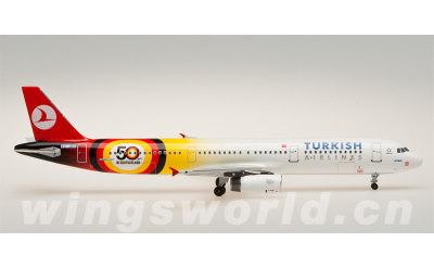 AeroClassics 1:400 土耳其航空 Airbus A321 TC-JRK 50周年