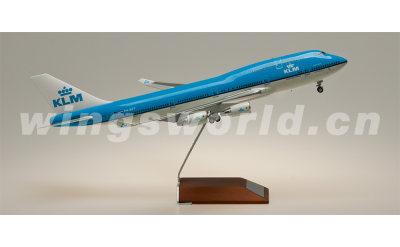 JC Wings 1:200 KLM 荷兰皇家航空 Boeing 747-400 PH-BFT
