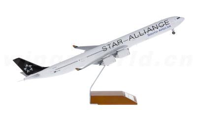 JC Wings 1:200 南非航空 Airbus A340-600 ZS-SNC 星空联盟