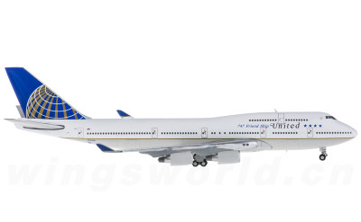 Geminijets 1:400 United Airlines 美国联合航空 Boeing 747-400 N121UA 747 友谊