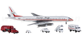 CP Air 加拿大太平洋航空 Douglas DC-8 N9604Z 附带地勤车辆