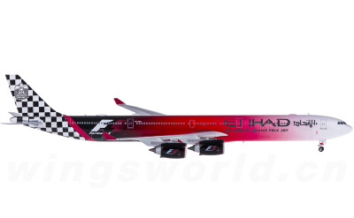Phoenix 1:400 Etihad 阿提哈德航空 Airbus A340-600 A6-EHJ F1彩绘