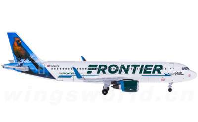 AeroClassics 1:400 Frontier Airlines 边疆航空 Airbus A320 N228FR 北美红雀