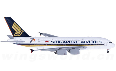 JC Wings 1:400 Singapore Airlines 新加坡航空 Airbus A380 9V-SKU 70周年