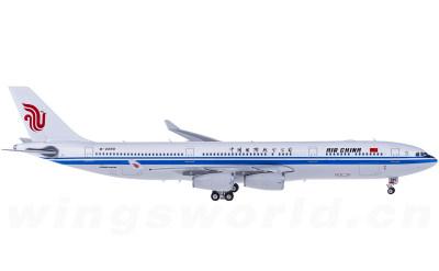 Air China 中国国际航空 Airbus A340-300 B-2390 带国旗