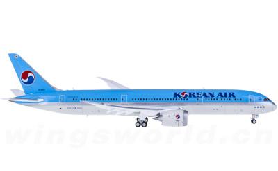 JC Wings 1:400 Korean Air 大韩航空 Boeing 787-9 HL8081 襟翼打开