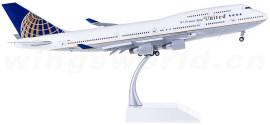 United Airlines 美国联合航空 Boeing 747-400 N121UA 襟翼打开