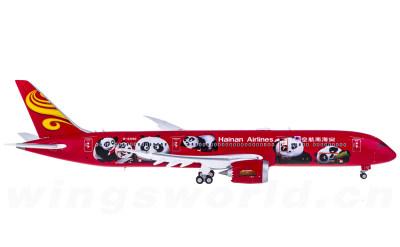 JC Wings 1:400 Hainan Airlines 海南航空 Boeing 787-9 B-6998 功夫熊猫 襟翼打开