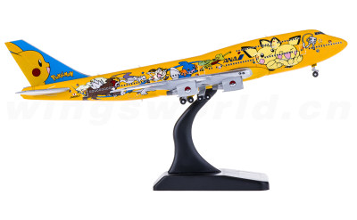 JC Wings 1:400 ANA 全日空 Boeing 747-400D JA8957 皮卡丘