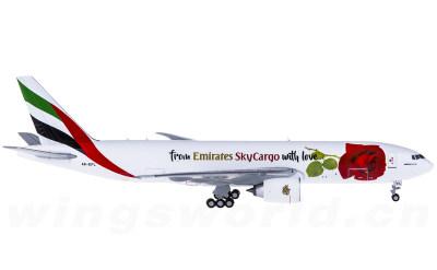 Geminijets 1:400 阿联酋航空 Boeing 777-200F A6-EFL With Love彩绘