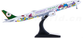 EVA Air 长荣航空 Boeing 777-300ER B-16722 Hello Kitty 星空机 襟翼打开