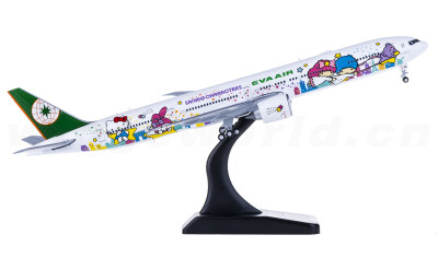 JC Wings 1:400 EVA Air 长荣航空 Boeing 777-300ER B-16722 Hello Kitty 星空机 襟翼打开