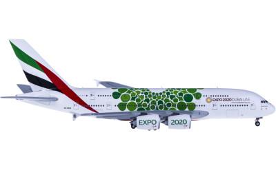 Geminijets 1:400 Emirates 阿联酋航空 Airbus A380 A6-EEW 世博彩绘