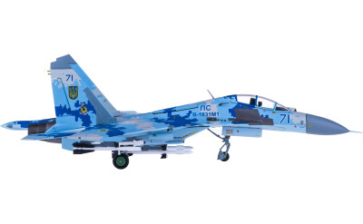 Ukrainian Air Force 乌克兰空军 Sukhoi Su-27UB Blue 71