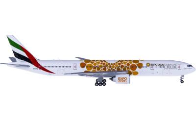 Geminijets 1:400 Emirates 阿联酋航空 Boeing 777-300ER A6-EPO 世博彩绘