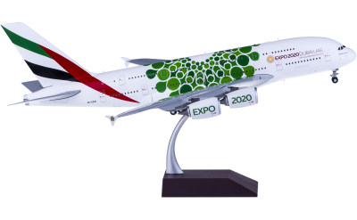 Geminijets 1:200 Emirates 阿联酋航空 Airbus A380 A6-EEW 世博彩绘