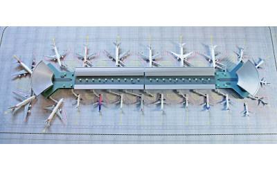 Geminijets 1:400 航站楼C 可搭配航站楼C图纸