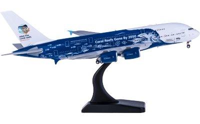 JC Wings 1:400 Hi Fly 葡萄牙高飞航空 Airbus A380 9H-MIP 珊瑚彩绘