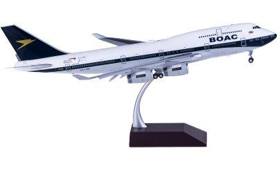 British Airways 英国航空 Boeing 747-400 G-BYGC BOAC涂装 襟翼打开