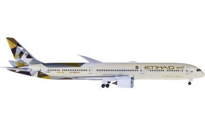 Herpa 1:500 Etihad Airways 阿提哈德航空 Boeing 787-10 Dreamliner A6-BMA
