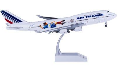 Air France 法国航空 Boeing 747-400 F-GEXA 襟翼打开 世界杯彩绘