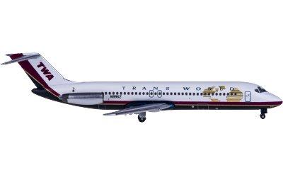 AeroClassics 1:400 TWA 环球航空 McDonnell Douglas DC-9-32 N996Z