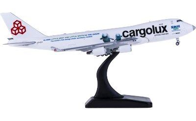 JC Wings 1:400 Cargolux 卢森堡货运航空 Boeing 747-400F LX-ECV 小白 小灰 货机