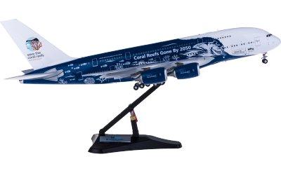 JC Wings 1:200 Hi Fly 葡萄牙高飞航空 Airbus A380 9H-MIP 珊瑚彩绘
