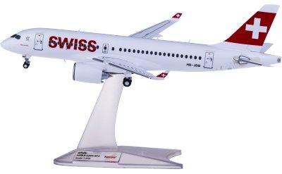 Herpa 1:200 Swiss 瑞士国际航空 Airbus A220-100 HB-JBB