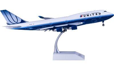 United Airlines 美国联合航空 Boeing 747-400 N104UA 襟翼打开