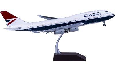 British Airways 英国航空 Boeing 747-400 G-CIVB 复古彩绘 襟翼打开