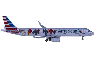 American Airlines 美国航空 Airbus A321 N162AA 抵御癌症彩绘