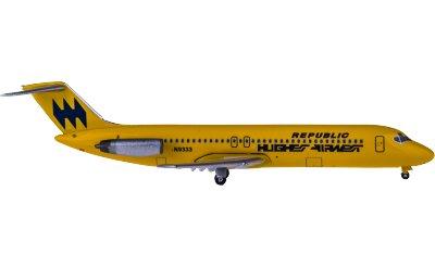 Hughes Airwest McDonnell Douglas DC-9-30 N9333