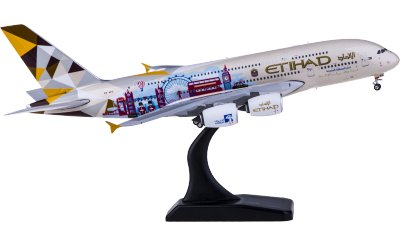 Phoenix 1:400 Etihad Airways 阿提哈德航空 Airbus A380 A6-APC 英国彩绘
