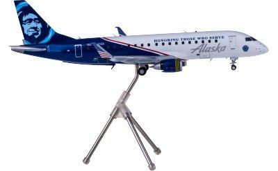 Alaska Airlines 阿拉斯加航空 Embraer ERJ-175 N651QX Honoring Those Who Serve