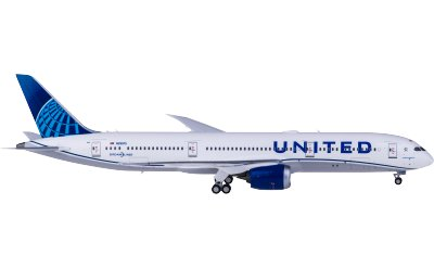 Ngmodel 1:400 United Airlines 美国联合航空 Boeing 787-9 N29975