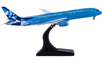 Etihad Airways 阿提哈德航空 Boeing 787-9 Dreamliner A6-BND 曼城俱乐部彩绘 襟翼打开