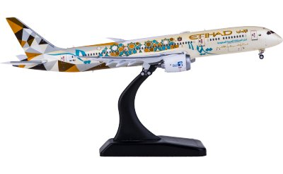 Etihad Airways 阿提哈德航空 Boeing 787-9 Dreamliner A6-BLI 沙特阿拉伯彩绘 襟翼打开
