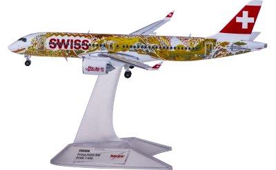 Herpa 1:400 Swiss 瑞士国际航空 Airbus A220-300 HB-JCA